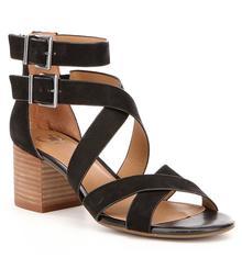 GB Cross-Back Nubuck Strapppy Block Heel Sandals