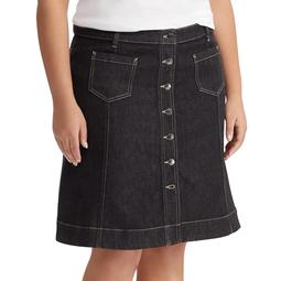 Plus Size Chaps Denim Skirt