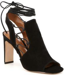 H HALSTON Zoe Ankle Tie Dress Sandals