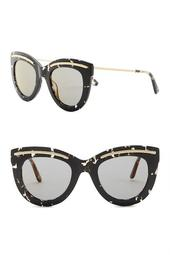 49mm Cat Eye Sunglasses