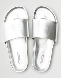 AEO Metallic Pool Slide Sandal