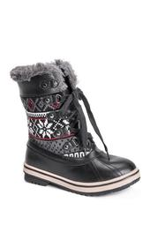 Alexa Lace-Up Faux Fur Lined & Trim Snow Boot
