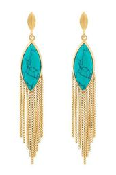 Marquise Stone & Fringe Earrings