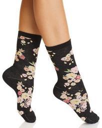 Saipan Floral Crew Socks