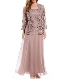 1bee1e1a22 Emma Street Plus 2-Piece Lace Long Jacket Dress