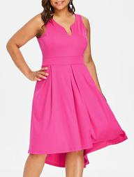 Plus Size Swing High Low Dress