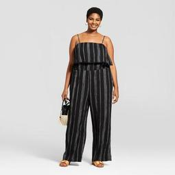 4a2afa9303f A New Day™ Women s Plus Size Striped Jumpsuit - A New Day™