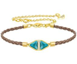 Labyrinth Cord Bracelet, Multi-colored, Gold plating