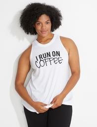 Gym Hair Don't Care Graphic Active Tunic Tank