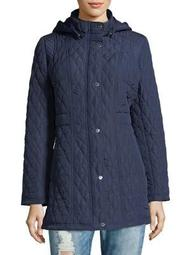 Plus Quilted Hooded Jacket