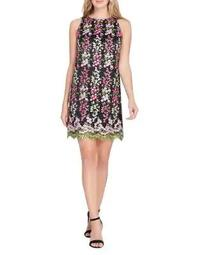 Plus Floral Embroidered Sheath Dress