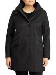 Plus Button-Front Walker Coat