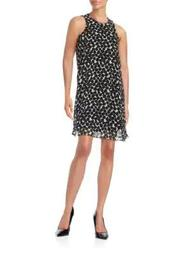 Plus Plus Mixed Dot Shift Dress