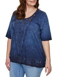 Plus Alberta Short-Sleeve Blouse