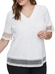 Plus Darby Short Sleeve Top