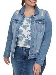 Plus Altala Long-Sleeve Denim Jacket