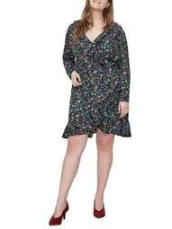 Plus Fransi Long-Sleeve Knee-Length Dress