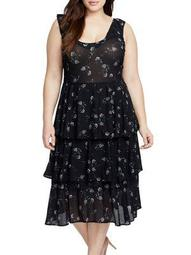Plus Aster Tiered Dress