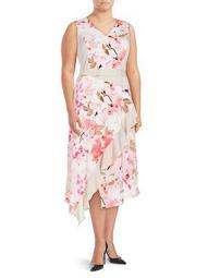Plus Floral Ruffle Dress