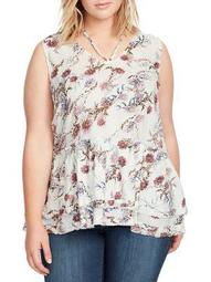 Plus Thea Floral Peplum Top