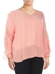 Plus Miller Striped Blouse