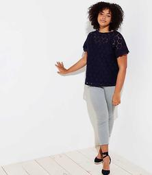 LOFT Plus Floral Lace Top