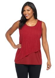 Plus Size Ruffle Front Top