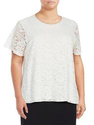Plus Plus Lace Short-Sleeve Top