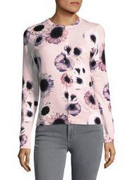 Plus Floral Cotton Cardigan