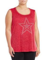 Plus Embellished Graphic Tank