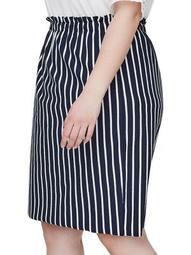 Plus 318 Domias Stripe Knee-Length Skirt