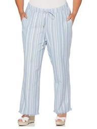 Plus Yarn Dye Beach Pants