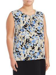 Printed Sleeveless Blouse