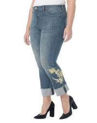 Plus Marilyn Embroidered Ankle Jeans