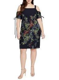 Plus Rosetta Cold-Shoulder Dress