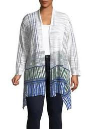 Plus Higher Ground Striped Cardigan