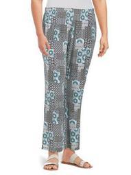 Plus Printed Pants