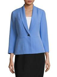 Shawl Collar Seamed Jacket