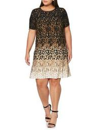 Plus Short Sleeve A-Line Dress