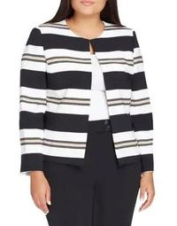 Balanced Stripe Jacket and Pant Suit