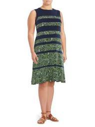 Plus Paisley Paneled Dress