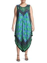 Plus Deja Vu Printed Dress