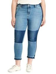 Plus Premier Straight Cropped Jeans