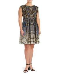 Plus Floral Dress