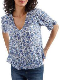 Plus Floral Ruffle Top