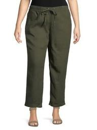 Plus Linen Pants