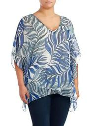 Plus Plus Tropical Popover Caftan