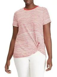Plus Striped Twist Top