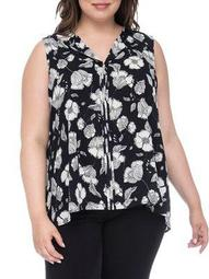 Plus Lily Pleat-Back Top