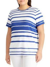 Plus Striped Jersey Top